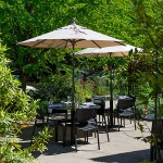 The outdoor patio at Castagna Cafe in Portland, Oregon